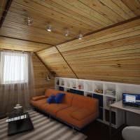 Дизайн гостиной с маленьким окном