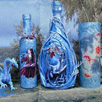 Сказочное оформление пустых бутылок