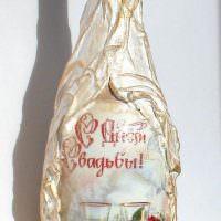 Украшение шампанского для свадьбы своими руками