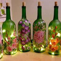 Винные бутылки с подсветкой внутри