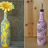 Роспись бутылок акриловыми красками