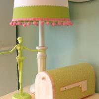 Декор абажура светильника своими руками