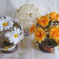 Декоративные сувениры с живыми цветами