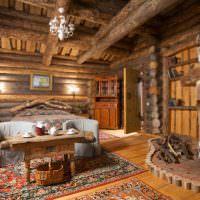 Место для отдыха в русской избе