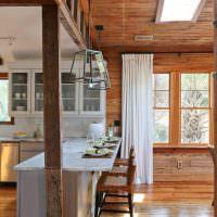 Барная стойка в деревянном доме
