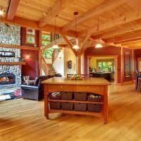просторная гостиная в загородном доме