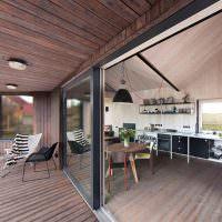 Раздвижные окна в частном доме