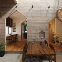 Лакированный деревянный стол для обедов