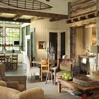 Обустройство гостиной в загородном доме