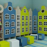 Детские шкафчики в виде игрушечных домиков