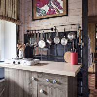 Кухня дачного домика с электроплиткой