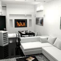 Белый диван угловой формы