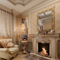Декор камина в классическом стиле