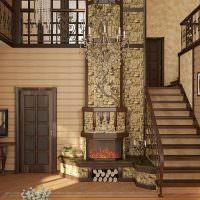 Холл частного дома с лестницей