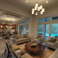 Кухня-гостиная просторной планировки