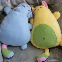 Самодельные подушки в виде животных