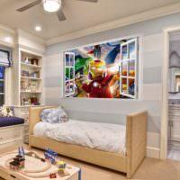 Детская комната для ребенка дошкольного возраста