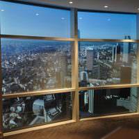 Панорамное окно с деревянной рамой
