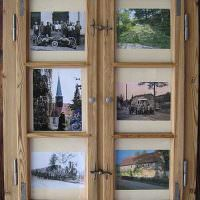 Деревянные ставни с любимыми фотографиями