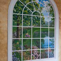 Фальш-окно арочной формы