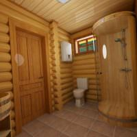 Душевая кабина в современной бане
