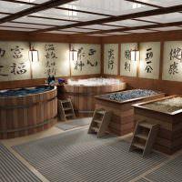 Дизайн банного помещения в восточном стиле