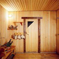Душевое отделение в деревянной бане
