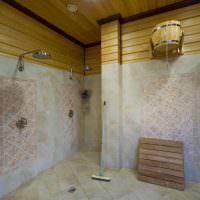 Душевая комната в большой бане