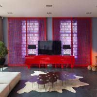 Дизайн гостиной с элементами востока