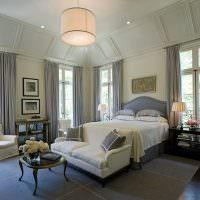 Шикарная спальня в классическом стиле