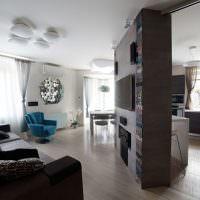 Интересная планировка гостиной в частном доме