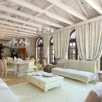 Дизайн большой гостиной загородного дома