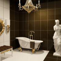 интерьер ванной комнаты в итальянском стиле