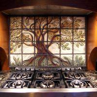 Мозаика на керамическом фартуке итальянской кухни