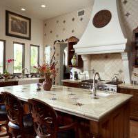 Керамическая столешница кухонного острова