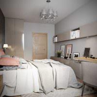 Дизайн узкой спальни для подростка