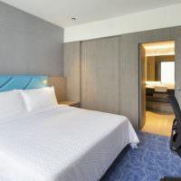Дизайн небольшой спальни в серых тонах