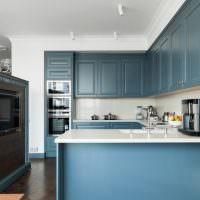 Дизайн модной кухни угловой планировки