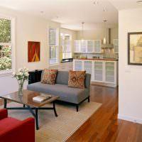 Зонирование зоны отдыха на кухне-гостиной