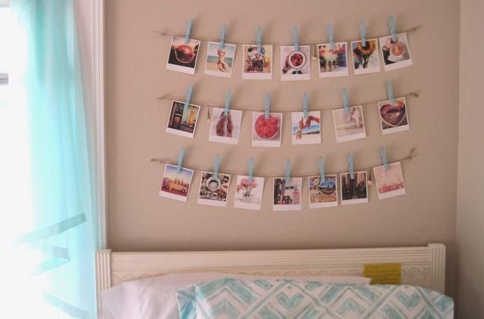 Декорирование стены над изголовьем детской кровати