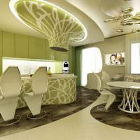 Кухня-гостиная в стиле бионика