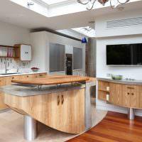 Кухонная мебель с плавными обводами
