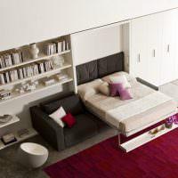 Мебель-трансформер в дизайне однокомнатной квартиры
