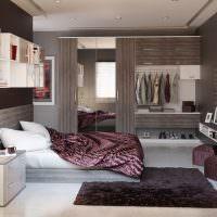 Дизайн спального помещения в стиле модерн