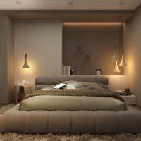 Стильное оформление спальни в серых оттенках