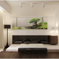 Современная мебель в интерьере спального помещения