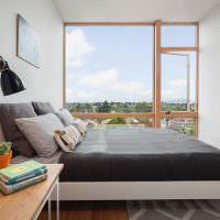 Дизайн узкой спальни в современном стиле
