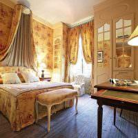 Организация освещения в спальне стиля прованс