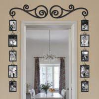 Декор фотографиями дверного проема