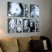 Фотоколлаж из черно-белых снимков